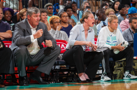 Interview with Katie Smith on what it was like to stand in as Head Coach for New York Liberty WNBA Team