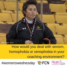 How would you deal with sexism, homophobia and xenophobia in your coaching environment?