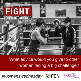 What advice would you give to other women facing a big challenge?