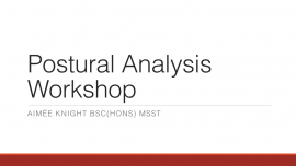 Female Coaching Conference – Postural Analysis Workshop