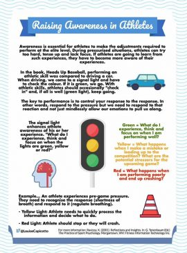 Raising Awareness In Athletes Using The Traffic Light Concept