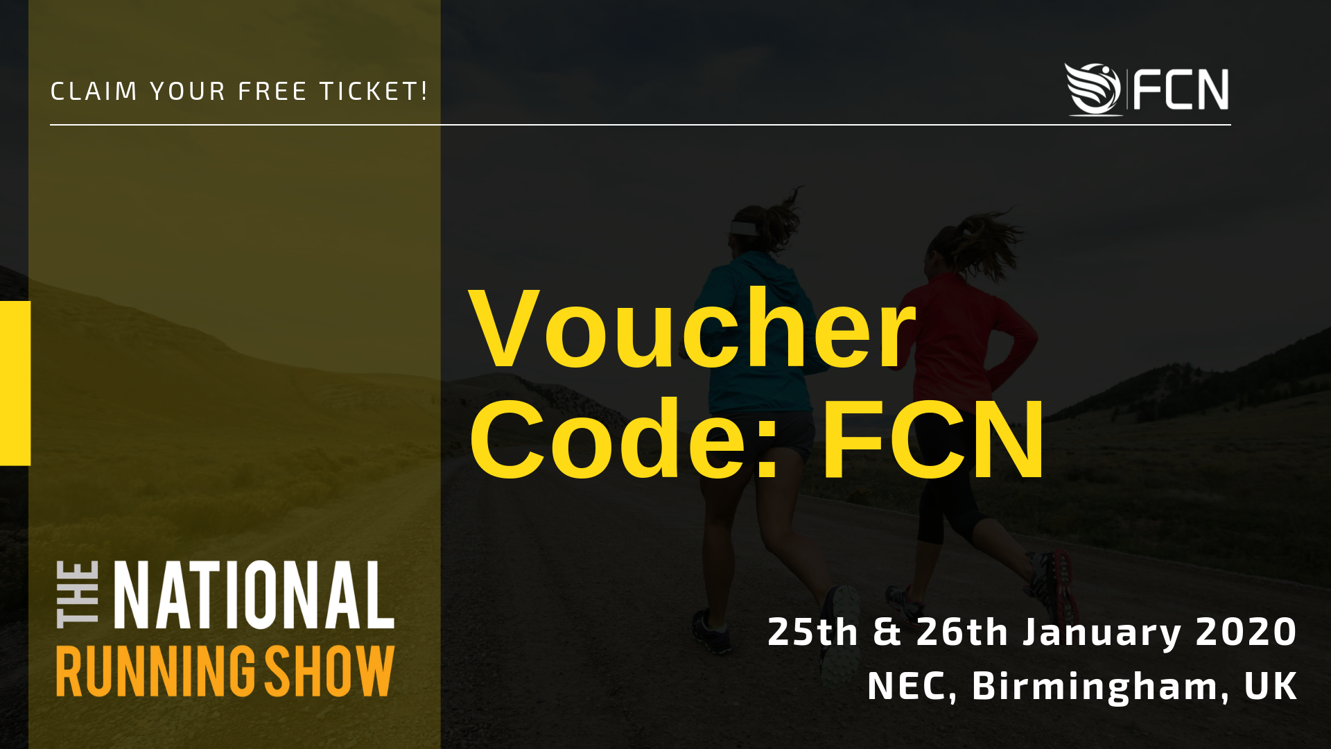 Free tickets to the 2020 National Running Show, UK